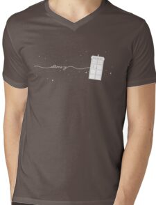 Allons-y to the TARDIS Mens V-Neck T-Shirt