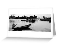 Paddling Home - Hoi An Greeting Card