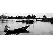 Paddling Home - Hoi An Photographic Print