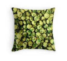 Wasabi Peas Throw Pillow