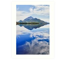 Mt Rugby Reflections, Bathurst Harbour, Tasmania Art Print