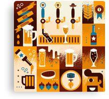 Craft Beer Concept Canvas Print