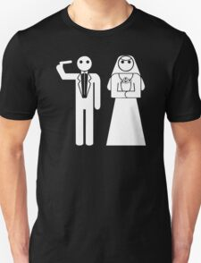 Game Over Stickman Wedding T-Shirt