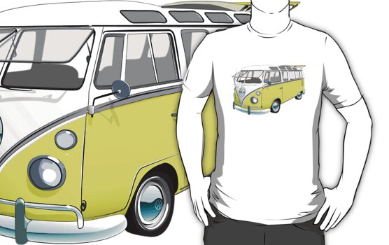 21 Window Volkswagen Bus by Sarah Caudle