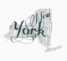 New York State Typography Kids Tee