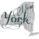 New York State Typography by surgedesigns