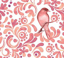 Pattern and bird by Gribanessa