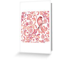 Pattern and bird Greeting Card