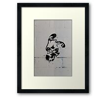 Bunny in a Tunnel Framed Print
