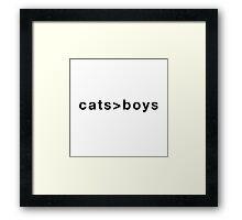 Cats>Boys Framed Print