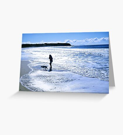 Silver beach Greeting Card