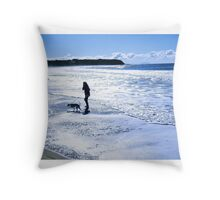 Silver beach Throw Pillow