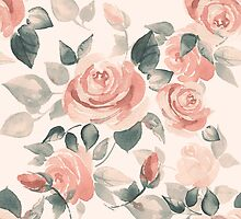 Background with beautiful roses by Gribanessa