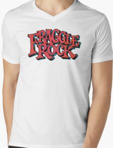 Fraggle Rock - Vintage style in RED Muppet  Mens V-Neck T-Shirt