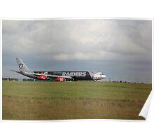9M-XAC Oakland Raiders A340 Poster