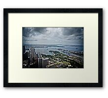 Sydney Harbour from the 360 tower Framed Print