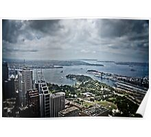 Sydney Harbour from the 360 tower Poster