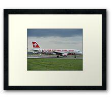 Swiss World cup Plane Framed Print