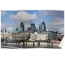view over the Thames Poster