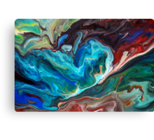 Colourful Abstract Fluid Painting Canvas Print