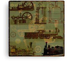 Steamed Locomotive Engines Canvas Print