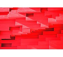 Red Blocks Photographic Print
