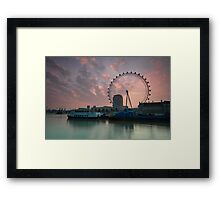 London Eye Sunrise Framed Print