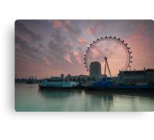London Eye Sunrise Canvas Print