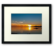 Sunset over the point of Sleat on the Isle of Skye Framed Print