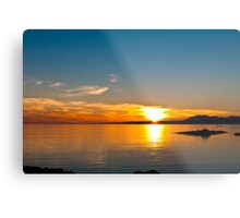 Sunset over the point of Sleat on the Isle of Skye Metal Print