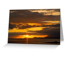 Sunset, Point of Sleat, Isle of Skye, Inner Hebrides, Scotland, Greeting Card