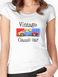 Vintage classic car Women's Fitted Scoop T-Shirt