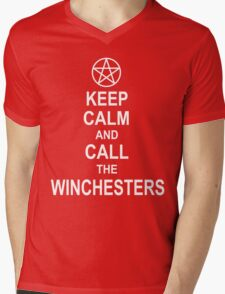 Keep Calm And Call The Winchesters Mens V-Neck T-Shirt