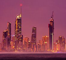 In the distance - Surfers Paradise by Hans Kawitzki