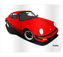 My own 911 in red Poster