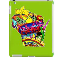 Wisconsin State, includes colorful Wisconsin State icons iPad Case/Skin