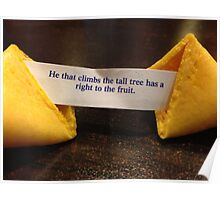 Fortune Cookie - Fruit from the Tall Tree Poster