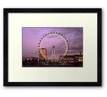 London Eye at Sunset Framed Print
