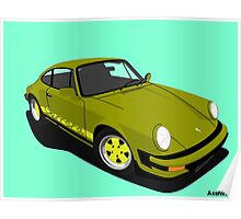 My own 911 in olive green Poster