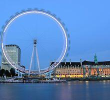 London Eye at Dusk by Kasia Nowak