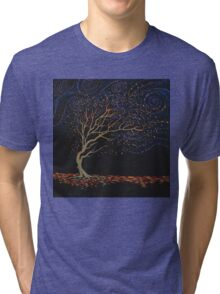 Night Tree Tri-blend T-Shirt