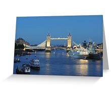 Tower Bridge at Dusk Greeting Card