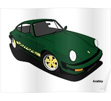 My own 911 in green Poster