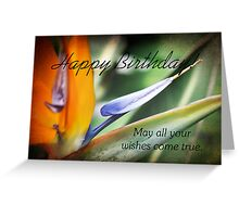 Bird of Paradise Birthday Greeting Card Greeting Card