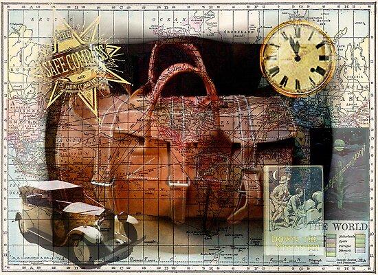 Bon Voyage Collage by Sarah Vernon