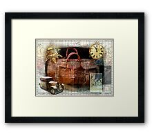 Bon Voyage Collage Framed Print
