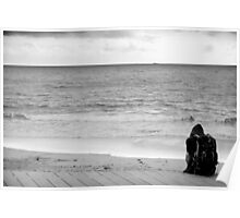 Looking Out To Sea Poster