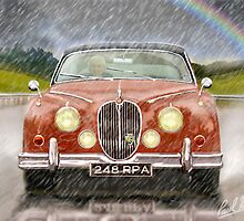 Classic 1960,s MK2 Jaguar car. by PAUL57