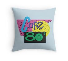 Back To The Cafe 80's Throw Pillow