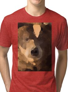 brown bear abstract Tri-blend T-Shirt